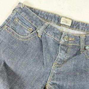 Free People Low Rise Jeans 29 Blue Contrast Stitch